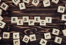 blocks spelling out respect